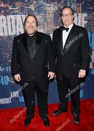 Kevin Farley, left, and John Farley attend the SNL 40th Anniversary Special at Rockefeller Plaza, in New York