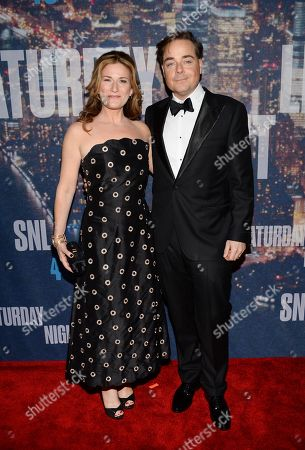 Stock Photo of Ana Gasteyer and husband Charlie McKittrick attend the SNL 40th Anniversary Special at Rockefeller Plaza, in New York