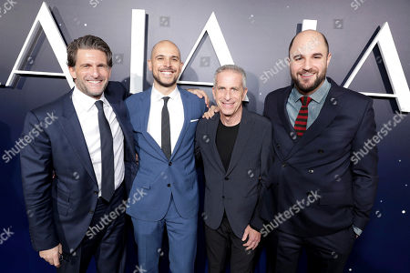 """Producers Gary Gilbert, Fred Berger, Marc Platt and Jordan Horowitz seen at Summit Entertainment, a Lionsgate Company, Presents the Los Angeles Premiere of """"La La Land"""" at Village Theatre, in Los Angeles"""