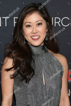 Kristi Yamaguchi arrives at the Super Bowl 50 Rolling Stone Party at The Galleria at the San Francisco Design Center, in San Francisco