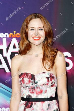 Actress Haley Strode arrives at the TeenNick HALO Awards at the Hollywood Palladium, in Los Angeles