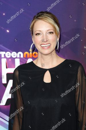 Stock Photo of Actress Mim Drew arrives at the TeenNick HALO Awards at the Hollywood Palladium, in Los Angeles