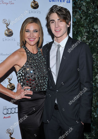 SEPTEMBER 21: Brenda Strong (L) and Zak Henri attend the Television Academy's 64th Primetime Emmy Awards Performers Nominee Reception at the Pacific Design Center on in West Hollywood, California