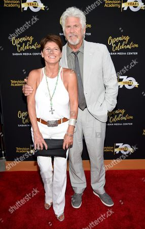 Sherri Jensen, and Barry Bostwick arrive at the Television Academy's 70th Anniversary Gala and Opening Celebration for its new Saban Media Center, in the NoHo Arts District in Los Angeles