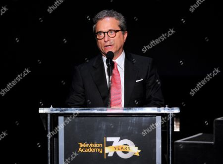 Hall of Fame Chair Rick Rosen speaks at the Television Academyâ?™s 70th Anniversary Gala and Opening Celebration for its new Saban Media Center, in the NoHo Arts District in Los Angeles