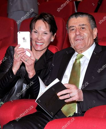 Cheryl Saban, left, and Haim Saban at the Television Academyâ?™s 70th Anniversary Gala and Opening Celebration for its new Saban Media Center, in the NoHo Arts District in Los Angeles