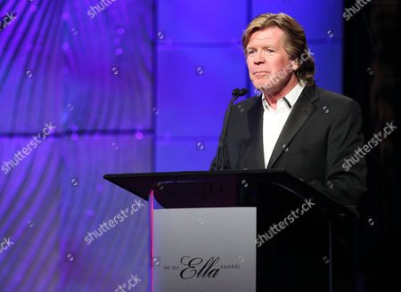 Peter Noone speaks at The Society of Singers' 21st ELLA Awards on in Beverly Hills, Calif. The event honored Mike Love, lead singer and co-founder of The Beach Boys, producer Nigel Lythgoe, and backup singers The Waters Family