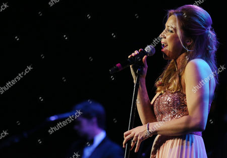 Becky Baeling Lythgoe performs at The Society of Singers' 21st ELLA Awards on in Beverly Hills, Calif. The event honored Mike Love, lead singer and co-founder of The Beach Boys, producer Nigel Lythgoe, and backup singers The Waters Family