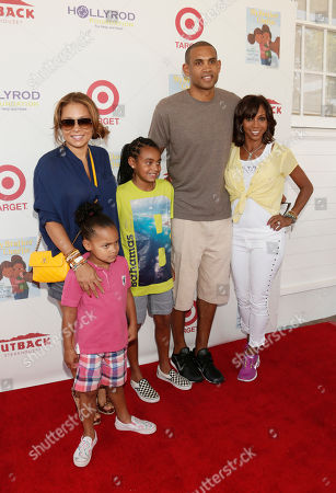 Tamia Hill, Grant Hill and family with Holly Robinson Peete attend the 3rd Annual My Brother Charlie Family Fun Festival at Culver Studios on in Culver City, Calif