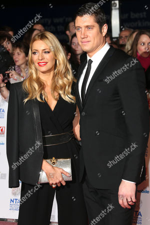 Tess Daly and Vernon Kaye at the National Television Awards, held at the O2 Arena, London, on