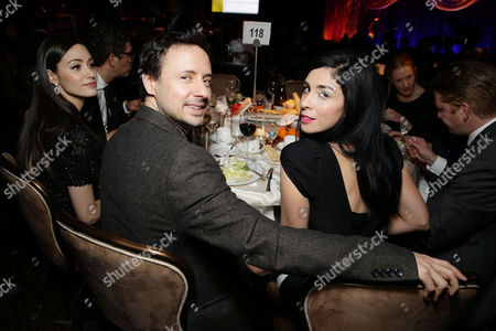 Kyle Dunnigan and Sarah Silverman at The Saban Community Clinic 37th Annual Dinner Gala, on in Beverly Hills, Calif