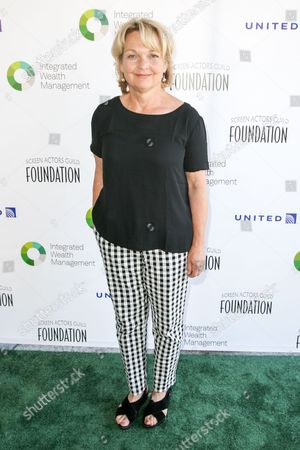 Pamela Reed arrives at The Screen Actors Guild Foundation 6th Annual Los Angeles Golf Classic, in Burbank, Calif