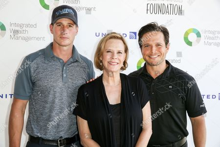 Brendan Fehr, from left, JoBeth Williams and Scott Wolf arrive at The Screen Actors Guild Foundation 6th Annual Los Angeles Golf Classic, in Burbank, Calif