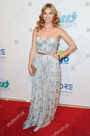Allie Gonino arrives at The Thirst Project's Annual Gala held at the Beverly Hilton Hotel, in Los Angeles