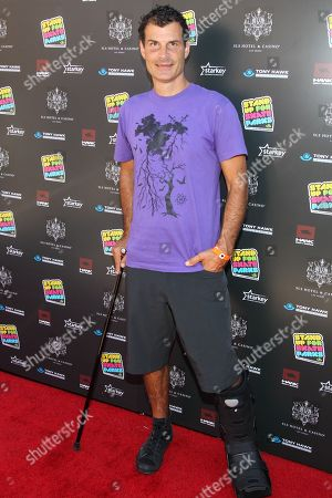 BMXer Mat Hoffman attends the Tony Hawk's 10th Annual Stand Up for Skateparks celebrity benefit on in Beverly Hills, Calif