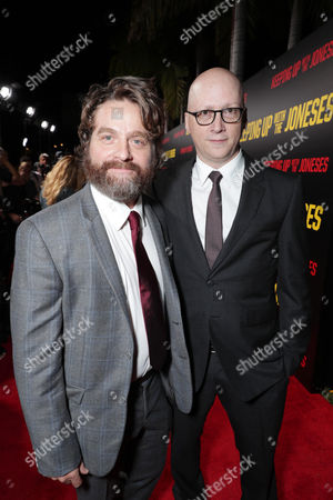 """Zach Galifianakis and Director Greg Mottola seen at Twentieth Century Fox """"Keeping Up with the Joneses"""" Red Carpet Event, in Los Angeles"""