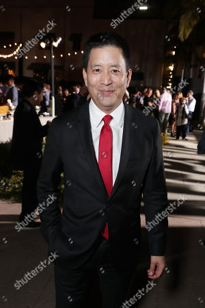 "Scott Takeda seen at Twentieth Century Fox ""Keeping Up with the Joneses"" red carpet event, in Los Angeles"