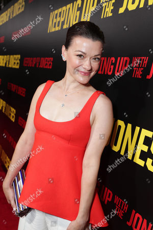 "Maribeth Monroe seen at Twentieth Century Fox ""Keeping Up with the Joneses"" red carpet event, in Los Angeles"