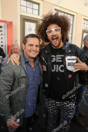 Director Walt Becker and Redfoo seen at Twentieth Century Fox Friends and Family screening of 'Alvin and The Chipmunks: The Road Trip' at Zanuck Theatre, in Los Angeles, CA