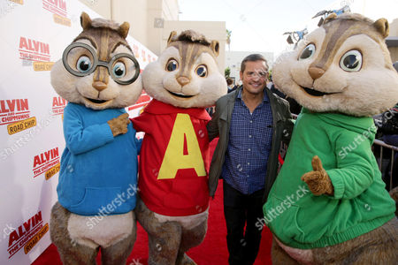 Editorial photo of Twentieth Century Fox Friends and Family screening of 'Alvin and The Chipmunks: The Road Chip', Los Angeles, USA
