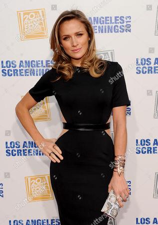 Shantel Van Santen arrives at Twentieth Century Fox Television Distribution's 2013 LA Screenings Lot Party on in Los Angeles, California