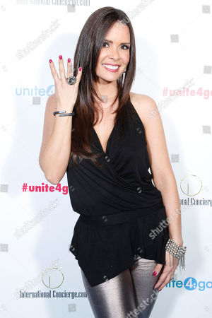 "Karent Sierra arrives at the Celebration of Local Heroes during unite4:good Day of Unity - Miami joining volunteers, celebrities and community leaders at the Ice Palace Film Studios on Monday, January, 20, 2014 in Miami, FL. unite4:good is the global movement for humanity whose mission is to inspire charitable action globally. With the support of local organizations and volunteers, the unite4:good movement launched in Miami and consisted in a variety of events and activities â?"" ranging from painting murals in Overtown to organizing donated items at the Chapman warehouse helping homeless families. Miami-Dade County issued a proclamation deeming January, 20, unite4:good Day"