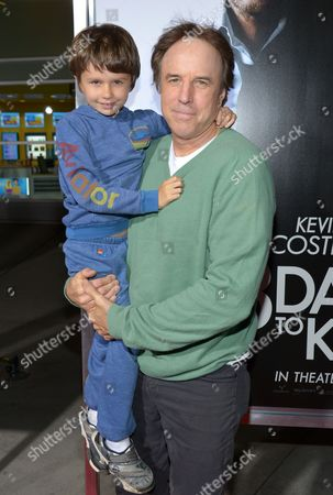 "Kevin Nealon, right, and Gable Ness Nealon arrive at the US premiere of ""3 Days to Kill"" at ArcLight Cinemas Hollywood, in Los Angeles"