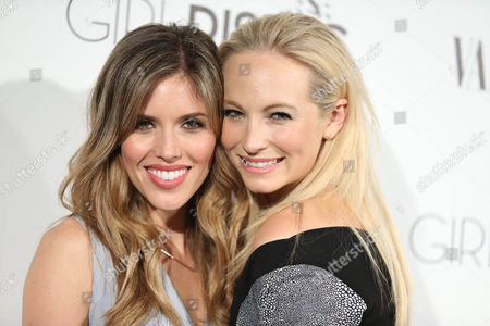 Kayla Ewell and Candice Accola attend the Vanity Fair And L'oreal Paris DJ Night at 1Oak on in West Hollywood, Calif