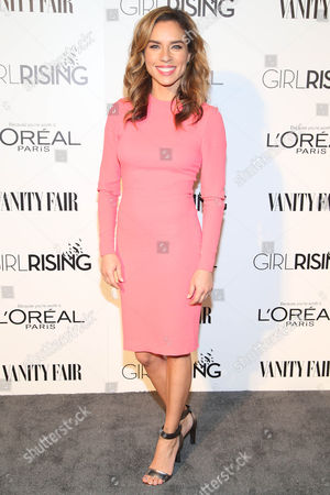 Stock Image of Nicole Lyn attends the Vanity Fair And L'oreal Paris DJ Night at 1Oak on in West Hollywood, Calif