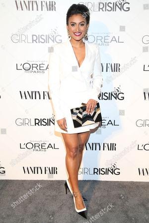 Nina Davuluri attends the Vanity Fair And L'oreal Paris DJ Night at 1Oak on in West Hollywood, Calif