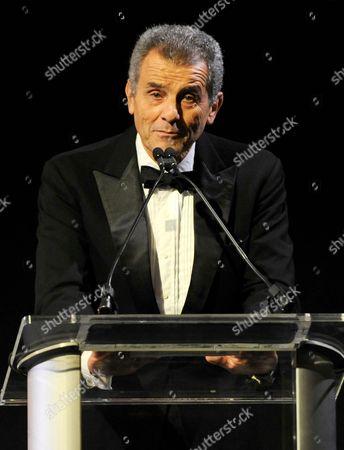 Ferruccio Ferragamo, president of Salvatore Ferragamo, speaks at the Wallis Annenberg Center for the Performing Arts Inaugural Gala, in Beverly Hills, Calif