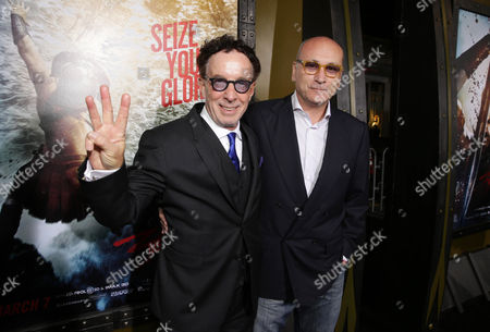 Stock Image of Producers Mark Canton and Gianni Nunnari seen at Warner Bros. Premiere of 300: Rise of An Empire, on Tuesday, March, 4, 2014 in Los Angeles