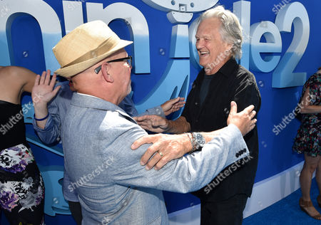 """Writer/Director Charles Martin Smith and Kris Kristofferson seen at the Los Angeles Premiere of Warner Bros. Pictures' and Alcon Entertainment's """"Dolphin Tale 2"""" held at the Regency Village Theatre, Westwood, Calif"""