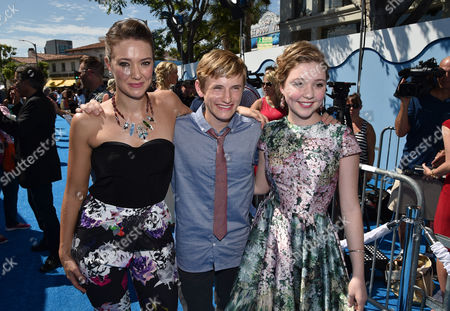 "Austin Highsmith, Nathan Gamble and Cozi Zuehlsdorff seen at the Los Angeles Premiere of Warner Bros. Pictures' and Alcon Entertainment's ""Dolphin Tale 2"" held at the Regency Village Theatre, Westwood, Calif"
