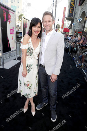 """Perrey Reeves and Aaron Endress-Fox seen at Warner Bros. Present the Los Angeles Premiere of """"War Dogs"""" at TCL Chinese Theatre, in Los Angeles"""