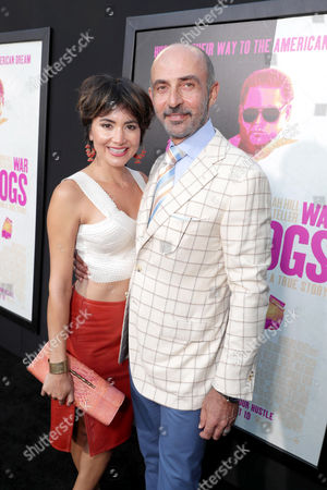 """Lorena Mendoza and Shaun Toub seen at Warner Bros. Present the Los Angeles Premiere of """"War Dogs"""" at TCL Chinese Theatre, in Los Angeles"""