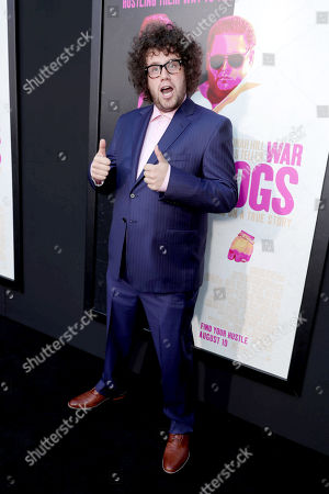 """Stock Photo of Julian Sergi seen at Warner Bros. Present the Los Angeles Premiere of """"War Dogs"""" at TCL Chinese Theatre, in Los Angeles"""