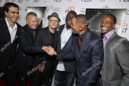 Paul Reiser, Albert Brooks, Leonard Marshall, Will Smith and Willie Gault seen at World Premiere Gala Screening of Sony Pictures 'Concussion' at AFI Fest 2015 at TCL Chinese Theatre, in Hollywood, CA