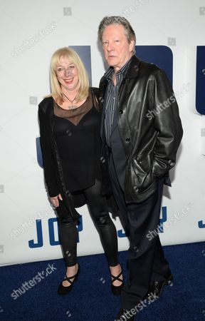 """Marianne Leone and Chris Cooper attend the world premiere of """"Joy"""" at the Ziegfeld Theatre, in New York"""