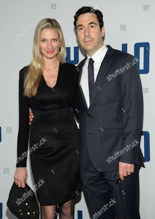 "Producer Jon Gordon and wife Catherine attend the world premiere of ""Joy"" at the Ziegfeld Theatre, in New York"