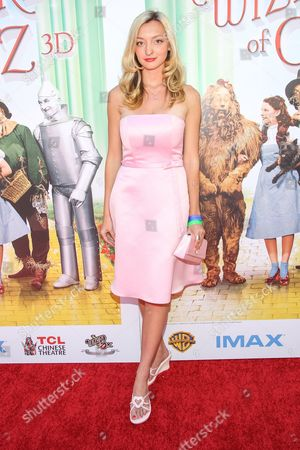 """Stock Image of Actress Joell Posey arrives at the world premiere of """"Wizard of Oz"""" 3D at the TCL Chinese Theatre on in Los Angeles"""