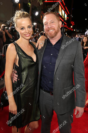 """Jessica Roffey and Ryan Kavanaugh, Chief Executive Officer of Relativity attend the World Premiere of Relativity Studios' upcoming release """"The Best of Me"""" held at Regal Cinemas L.A. Live,, in Los Angeles"""