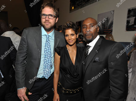 """Director Brad Anderson, Halle Berry and Morris Chestnut attend the after party for the world premiere of """"The Call"""" at the Arclight Hollywood on in Los Angeles"""