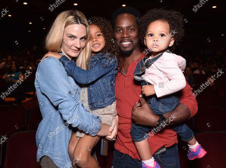Brittany Perrineau, and from left, Wynter Perrineau, Harold Perrineau and Holiday Perrineau attend Yo Gabba Gabba! LIVE! Music Is Awesome! at the Shrine Auditorium, in Los Angeles