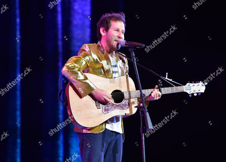 Ben Lee performs on stage at Yo Gabba Gabba! LIVE! Music Is Awesome! at the Shrine Auditorium, in Los Angeles