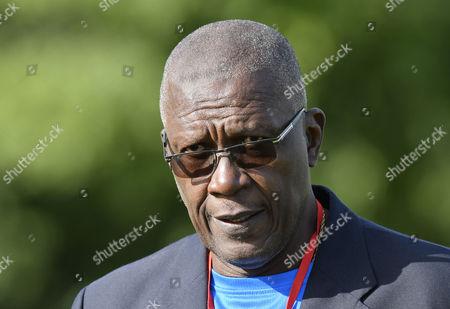 Stock Picture of Ireland vs West Indies. West Indies Team Manager Joel Garner