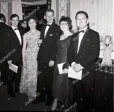 THUNDERBIRDS - Desmond Saunders, Lily Hill, Reg Hill, Christine Glanville and Alan Pattillo.  Thunderbirds production party