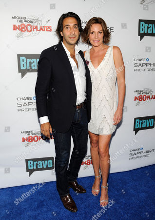 """Television personality Luann de Lesseps and boyfriend Jacques Azoulay attend the """"Around the World in 80 Plates"""" Finale Sneak Peek Party presented by Chase Sapphire Preferred and Bravo on in New York, NY"""