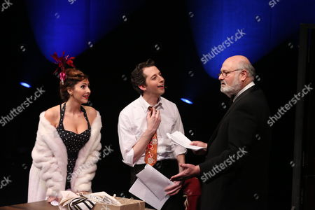 "From left, cast members Gina Milo, Josh Grisetti and Rob Reiner perform during a staged reading of ""Enter Laughing, The Musical"" to benefit Center Theatre Group at the Mark Taper Forum on in Los Angeles, Calif"