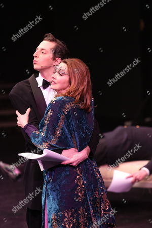 "From left, cast members Josh Grisetti and Sharon Lawrence perform during a staged reading of ""Enter Laughing, The Musical"" to benefit Center Theatre Group at the Mark Taper Forum on in Los Angeles, Calif"
